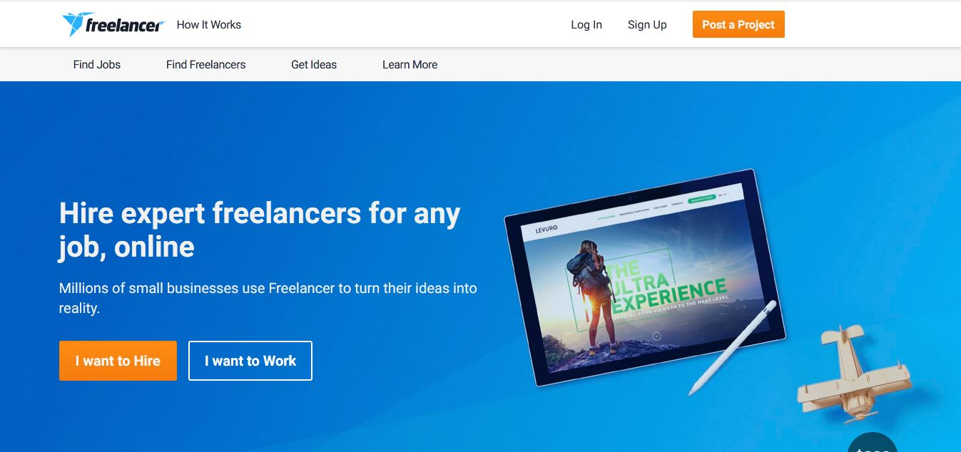 Start your freelancing service