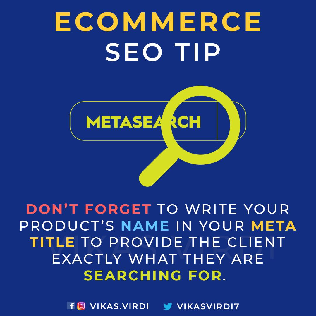 eCommerce SEO Tips -meta search