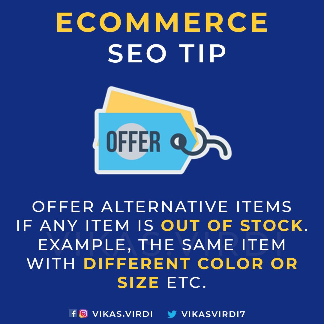 eCommerce SEO Tips - Offer