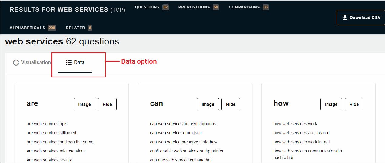 answer the public data option