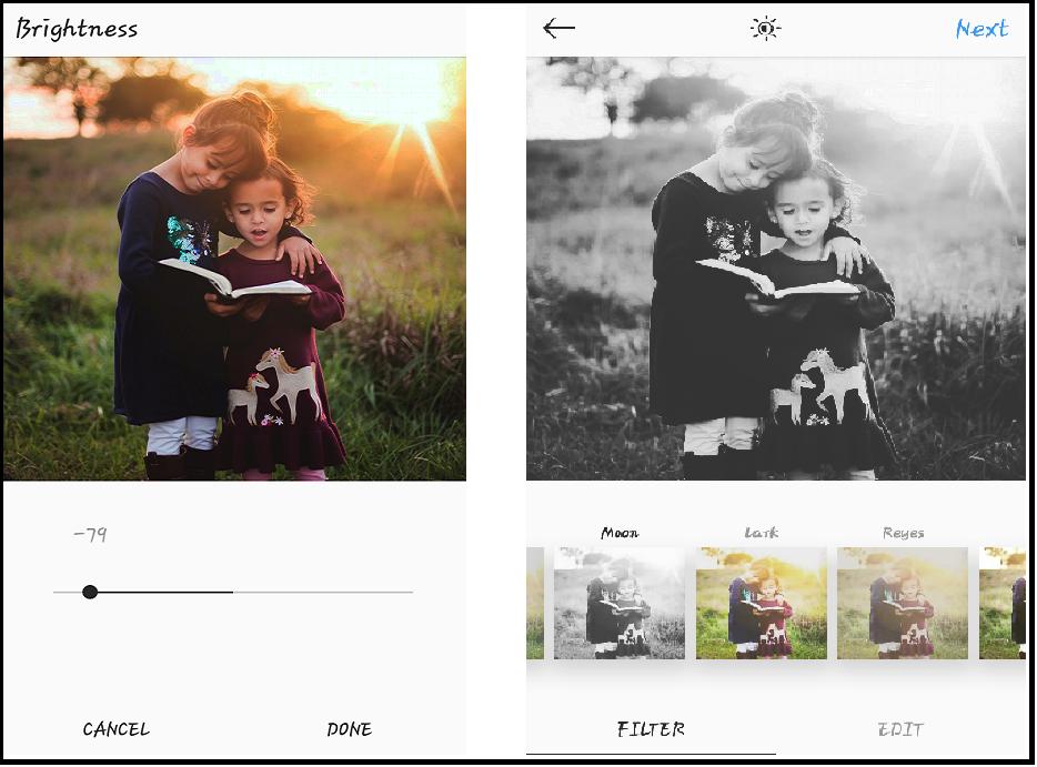instagram editing tools