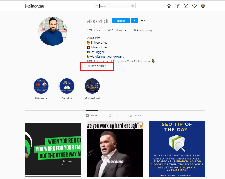 instagram profile : how to promote your business for free