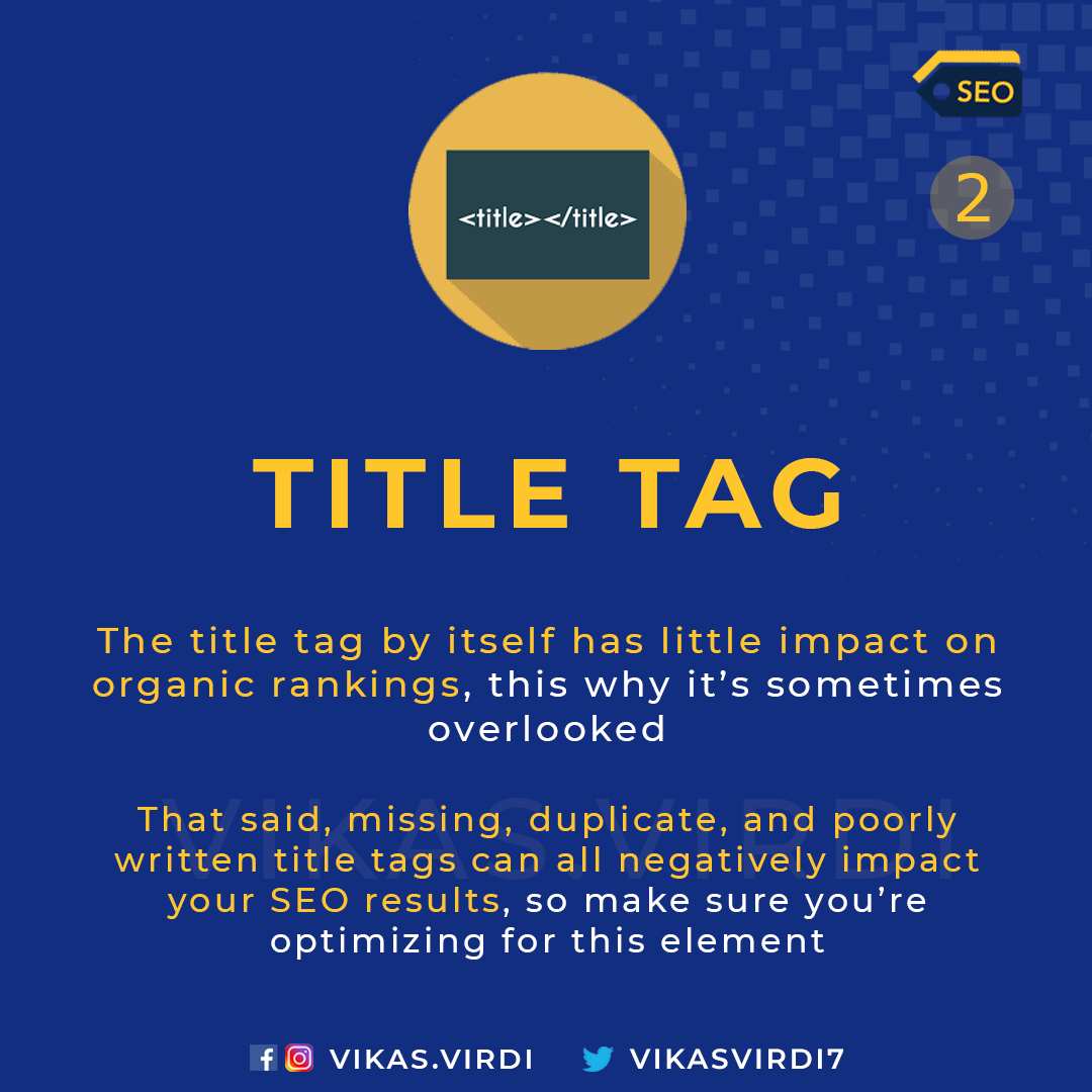 title tag - On-Page SEO Factors