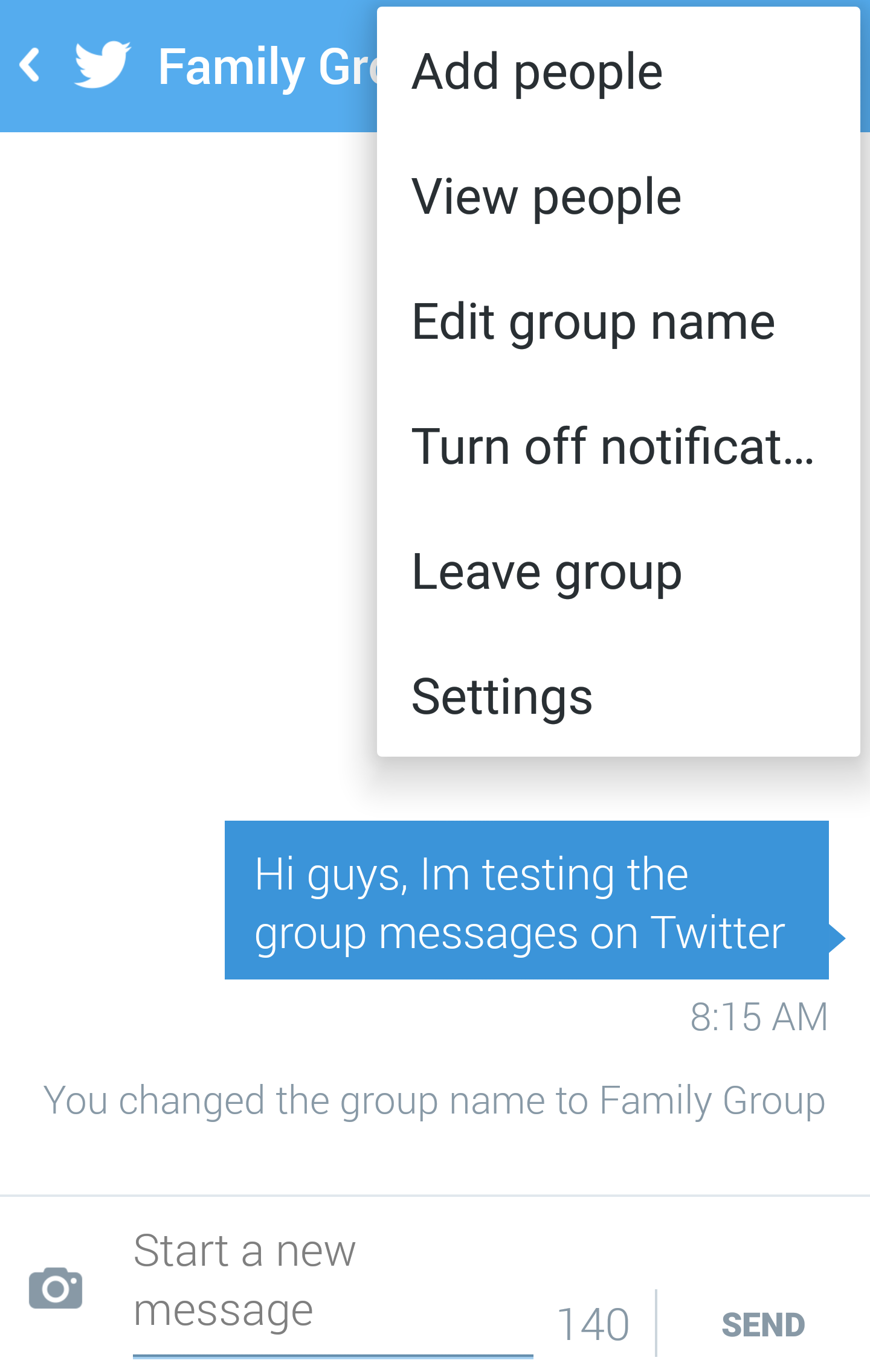 twitter group chat